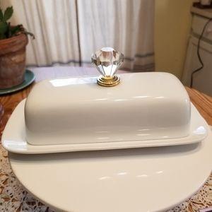 Glam Porcelain Butter Dish